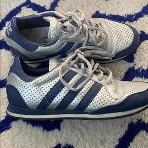 Silver and blue classic Adidas